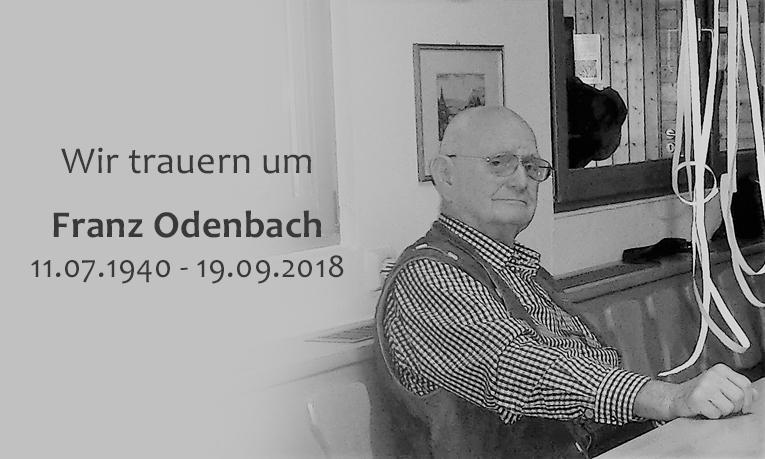 Wir gedenken an Franz Odenbach